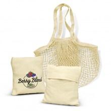 Cotton Mesh Foldaway Tote Bag 118944