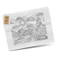 Cotton Colouring Tea Towel 116594