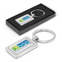 Rectangular Metal Key Ring 100316