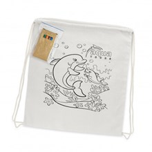Cotton Colouring Drawstring Backpack 113013