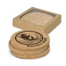 Oakridge Cork Coaster Round Set of 4 113033